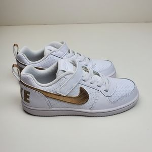 Nike Court Borough Low EP Girls White and Gold